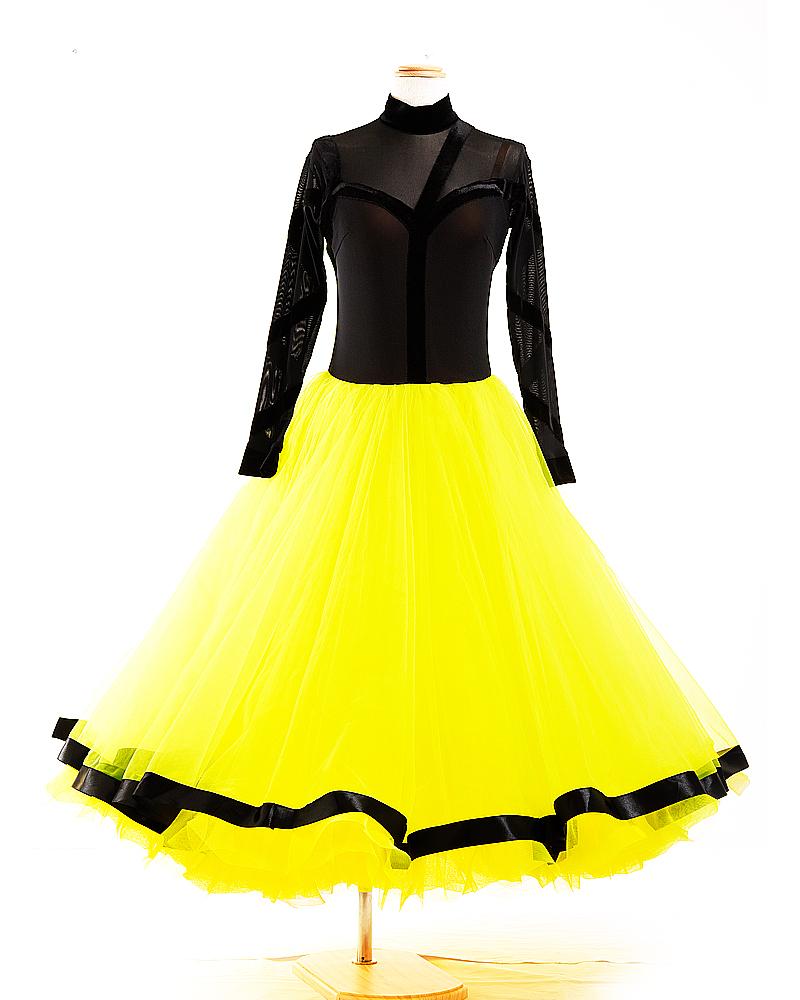 【展示、在庫品】 Lサイズ 11号 社交ダンス 競技ダンス モダン スタンダード ドレス パーティー