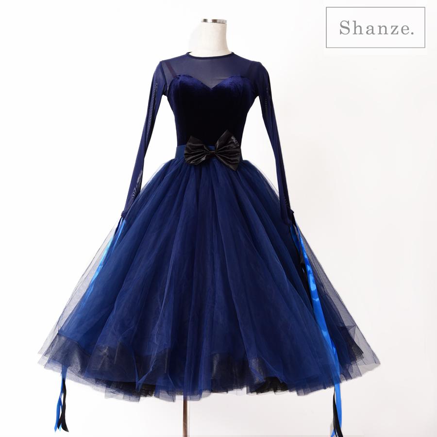 【在庫、展示品】Mサイズやや細身 社交ダンス 競技ダンス モダン スタンダード ドレス