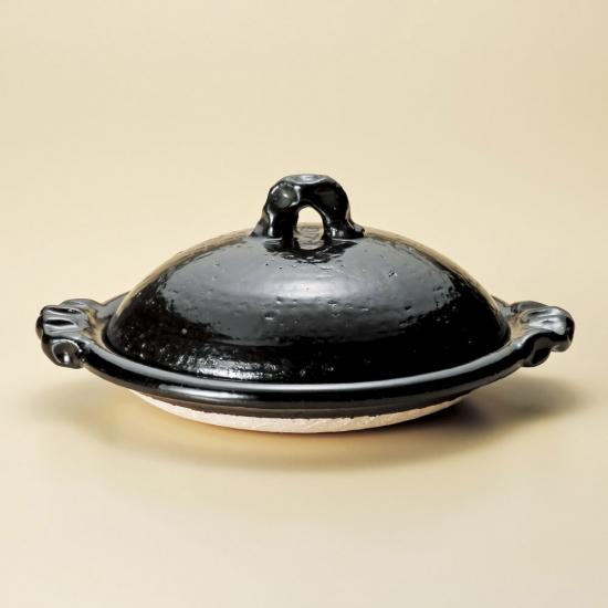 黒釉11.0陶板 信楽焼 和食器 陶板(大) 業務用