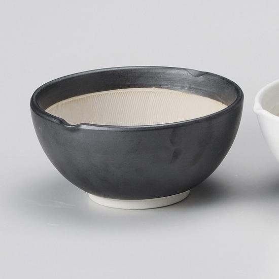 業務用食器を産地からお届けします 黒マット波紋櫛目丸型4.2寸すり鉢 プレゼント 和食器 未使用品 業務用 すり鉢関連