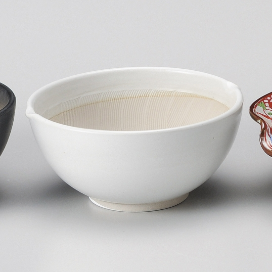 業務用食器を産地からお届けします 低廉 白マット波紋櫛目丸型4.2寸すり鉢 和食器 業務用 すり鉢関連 セール