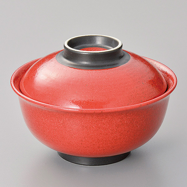 業務用食器を産地からお届けします 柚子赤斑点反型円菓子碗 小 和食器 美品 円菓子碗 今ダケ送料無料 蓋向 業務用
