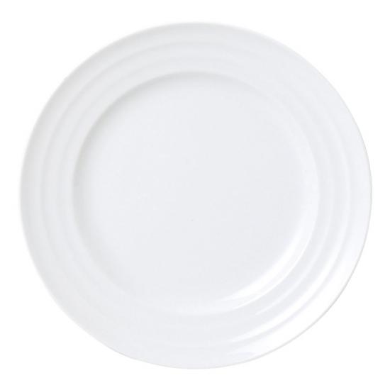 フレンチ イタリアンレストラン カフェにおすすめ おしゃれ モダンなものなど色々取り揃えております リネア ホワイト 白8吋ミート 白い器 洋食器 丸型プレート M 中皿 約21.3cm 限定モデル シンプル 安心の定価販売 シック 洋食 洋皿 カフェ ホテル 丸皿 モダン 業務用 イタリアン