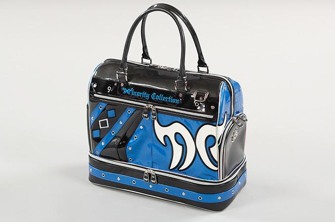 10712-27 MC-Halogen ボストンバッグ(ブラック×ブルー)