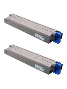 商品名:MIKASAリサイクルトナー参考型名:TC-C3BC2 シアン リサイクルトナー2本セット(沖データ)(C835dnw/C835dnwt/C844dnw)<リターン方式>