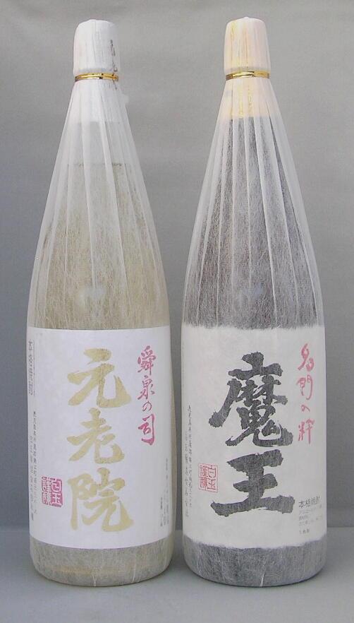 送料500円引き芋焼酎 魔王・麦芋焼酎 元老院25度 1800ml 2本セット