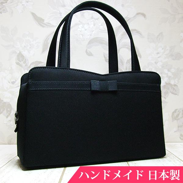 フォーマルバッグ 黒 布 日本製 弔事 法事 結婚式 葬儀 お受験 入学式 入園式 卒業式 ブラックフォーマル バッグ MINOTOFU bff01