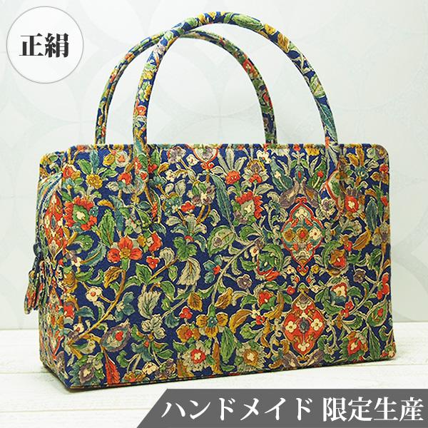 和装バッグ 和 バッグ 利休 正絹 日本製 着物用 MINOTOFU HMWE-a