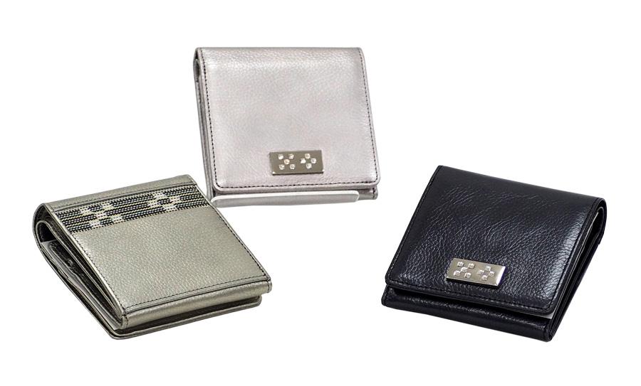 ITUYO 35%OFF 二つ折財布 価格 交渉 送料無料 BOX クリスタル カラー3色