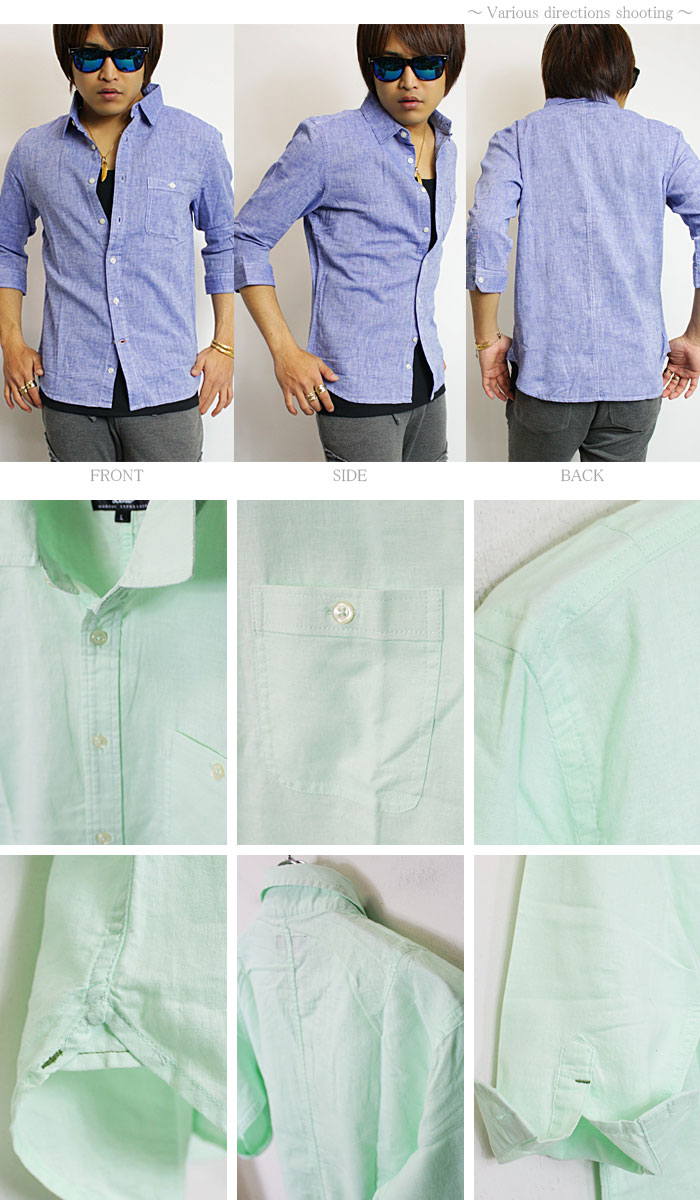 White Cotton Linen Shirt Mens Rldm