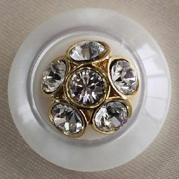ラインストーンで飾ったゴールド シルバーの豪華なボタン Jewel IV 宝石のような輝きのボタン 期間限定送料無料 6個セット 25mm 人気の製品 IV083-G01