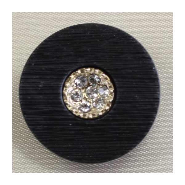 マーケティング ラインストーンで飾ったゴールド シルバーの豪華なボタン Jewel IV IV092-G09 宝石のような輝きのボタン 6個セット アウトレット☆送料無料 23mm