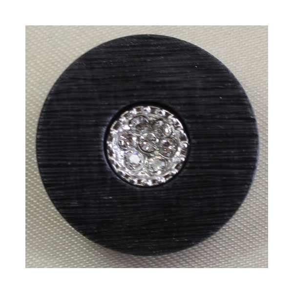 人気ショップが最安値挑戦 ラインストーンで飾ったゴールド シルバーの豪華なボタン Jewel IV 特価キャンペーン 6個セット 23mm 宝石のような輝きのボタン IV092-N09
