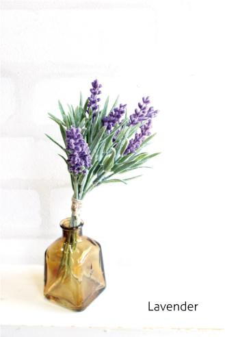 花 出色 花束 リアル ギフト お祝い ミニ おすすめ インテリア 32576 ショッピング 造花 未触媒 おしゃれ ラベンダーバンチ観葉植物 フェイクグリーン
