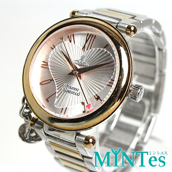 ヴィヴィアン・ウエストウッド オーブ レディース腕時計 VV006RSSL コンビ クォーツ 【中古】