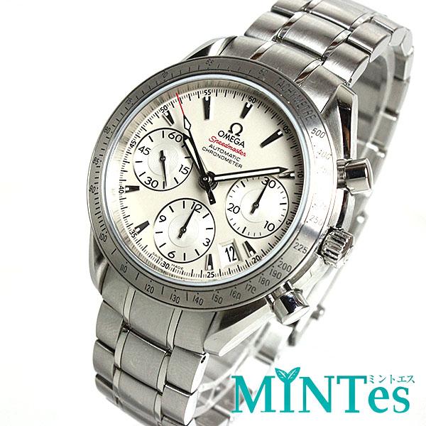 オメガ スピードマスターデイト メンズ腕時計 3231.0404 クロノメーター 白文字盤 オートマチック 自動巻き 【中古】