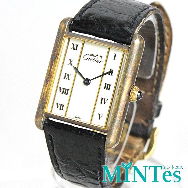 カルティエ マストタンク ヴェルメイユ ボーイズ腕時計 クォーツ 590005 【中古】