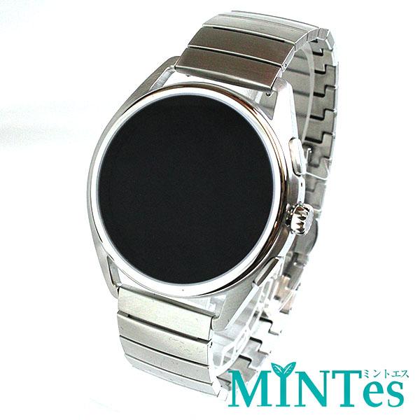 エンポリオ アルマーニ マッテオ タッチスクリーン スマートウォッチ メンズ腕時計 ART5007 未使用品 シルバー iOS Android スマホ対応 【中古】