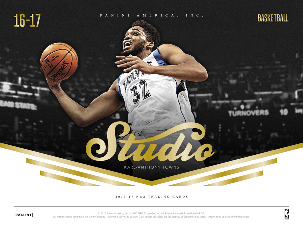 送料無料 NBA 2016-17 PANINI STUDIO BASKETBALL[ボックス](34-90459)