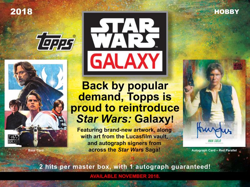 ◆予約◆2018 TOPPS STAR WARS GALAXY[ボックス]