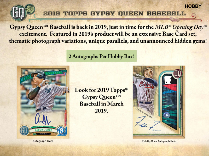 MLB 2019 TOPPS GYPSY QUEEN BASEBALL[ボックス]