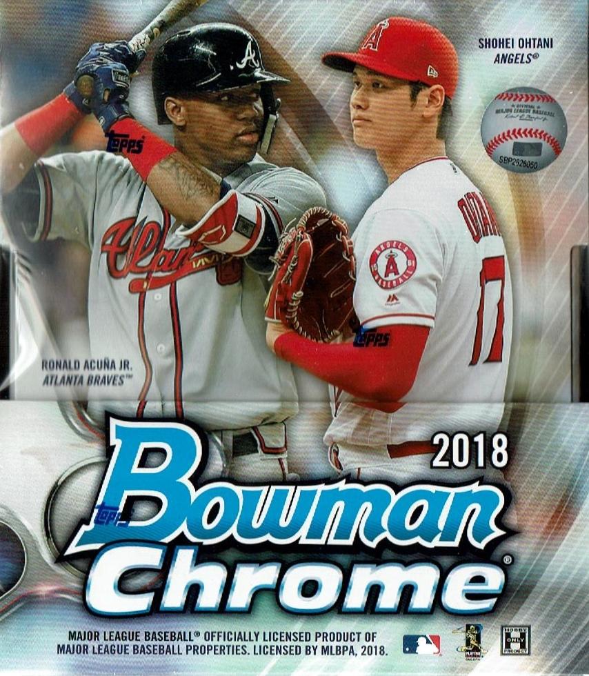 MLB 2018 BOWMAN CHROME BASEBALL HOBBY[ボックス]