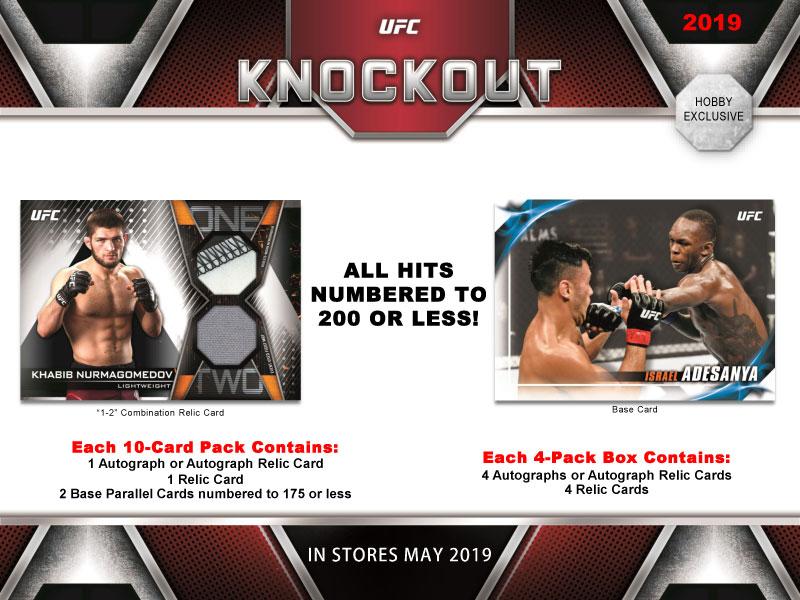 ◆予約◆2019 TOPPS UFC KNOCKOUT[ボックス]