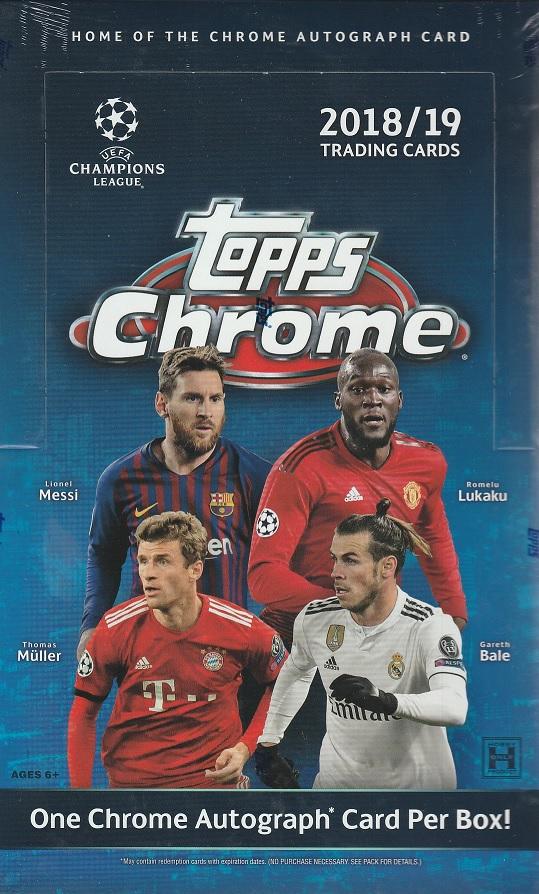 2018/19 TOPPS UEFA CHAMPIONS LEAGUE CHROME SOCCER[ボックス]