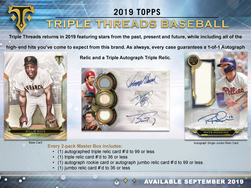 MLB 2019 TOPPS TRIPLE THREADS BASEBALL[ボックス]