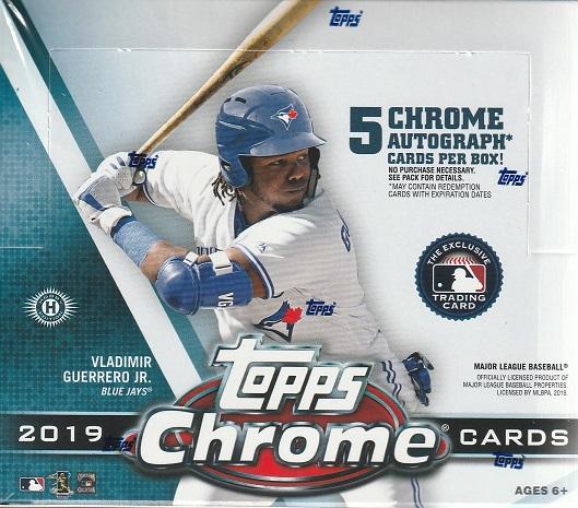 MLB 2019 TOPPS CHROME BASEBALL HOBBY JUMBO[ボックス]