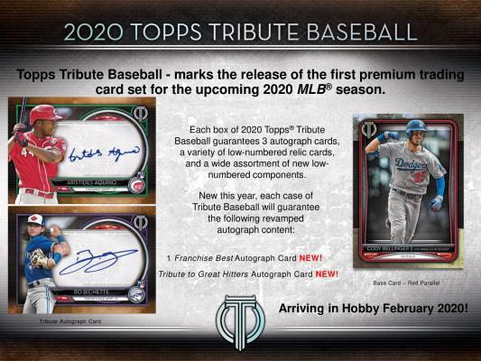MLB 2020 TOPPS TRIBUTE BASEBALL[ボックス]