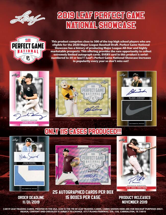2019 LEAF PERFECT GAME SHOWCASE BASEBALL[ボックス]