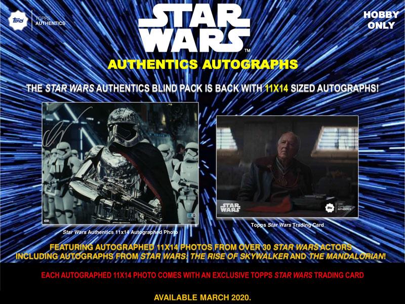2020 TOPPS STAR WARS AUTHENTICS BLIND PACK 直筆サイン入り写真&カード[ボックス]