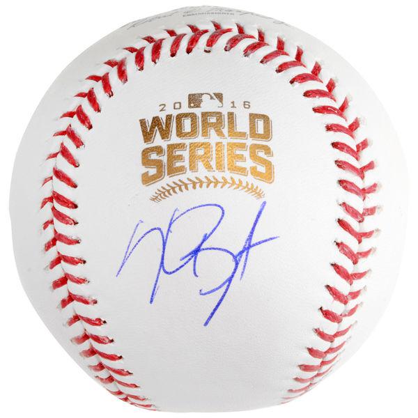 送料無料 Kris Bryant Chicago Cubs Autographed 2016 MLB World Series Baseball(66-01591)