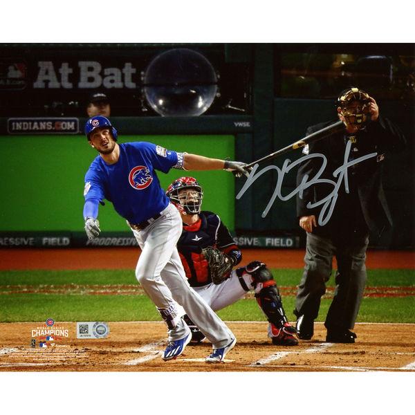 送料無料 Kris Bryant Chicago Cubs 2016 MLB World Series Champions Autographed 8