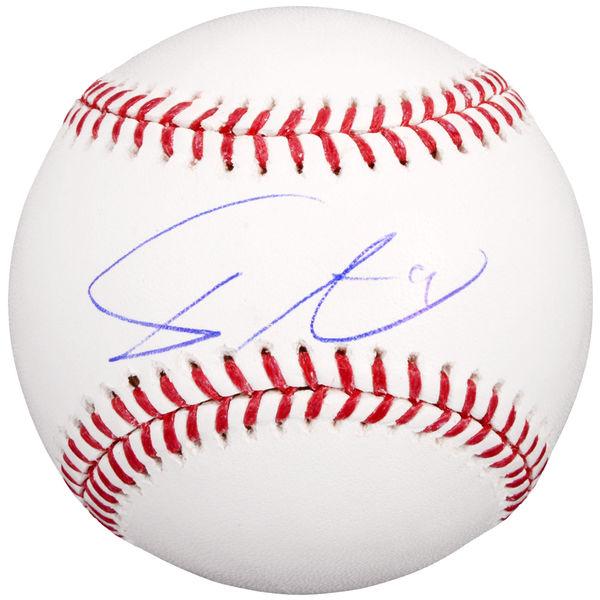 送料無料 Yu Darvish Texas Rangers Autographed Official Major League Baseball(66-01591)