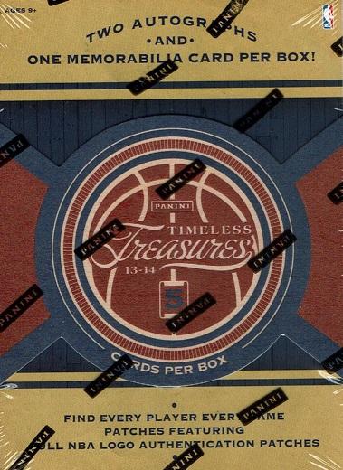 送料無料 NBA 2013-14 PANINI TIMELESS TREASURES BASKETBALL[ボックス](34-77052)