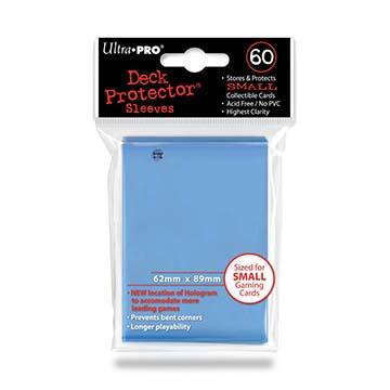 88-82972 Ultra PRO 格安 価格でご提供いたします 小型サイズカード用 ライトブルー 送料無料(一部地域を除く) デッキプロテクタースリーブ 60枚入り