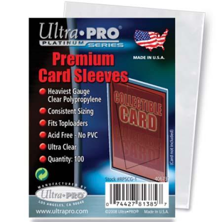 88-81385 休み Ultra PRO 通常サイズカード用 1個 100枚入り プレミアムカードスリーブ [宅送]