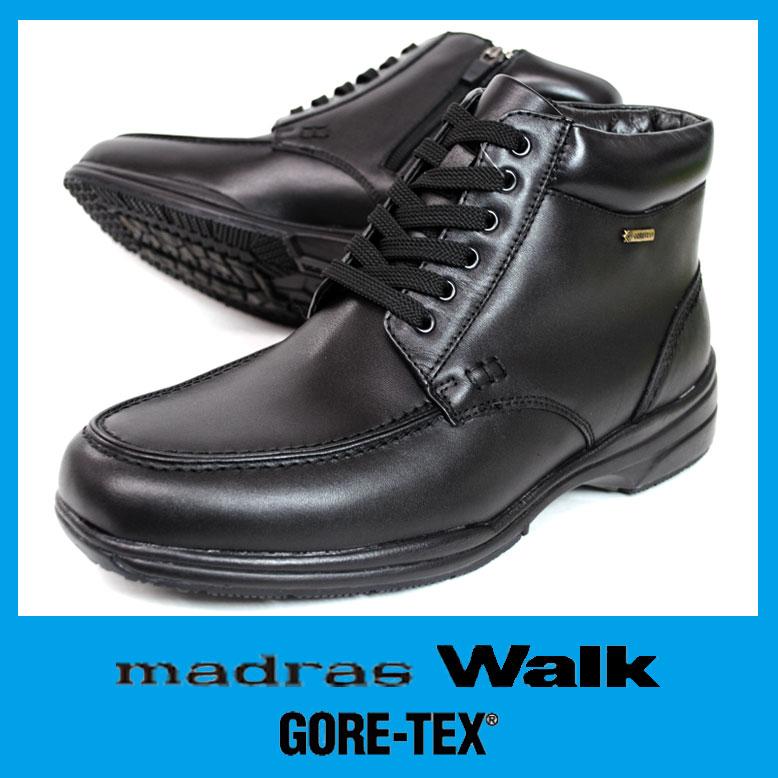 GORE-TEX【ゴアテックス】 スノーブーツマドラスウォーク 5478 ブラック完全防水 幅広4E 本革 メンズファスナー付 ウィンターブーツ