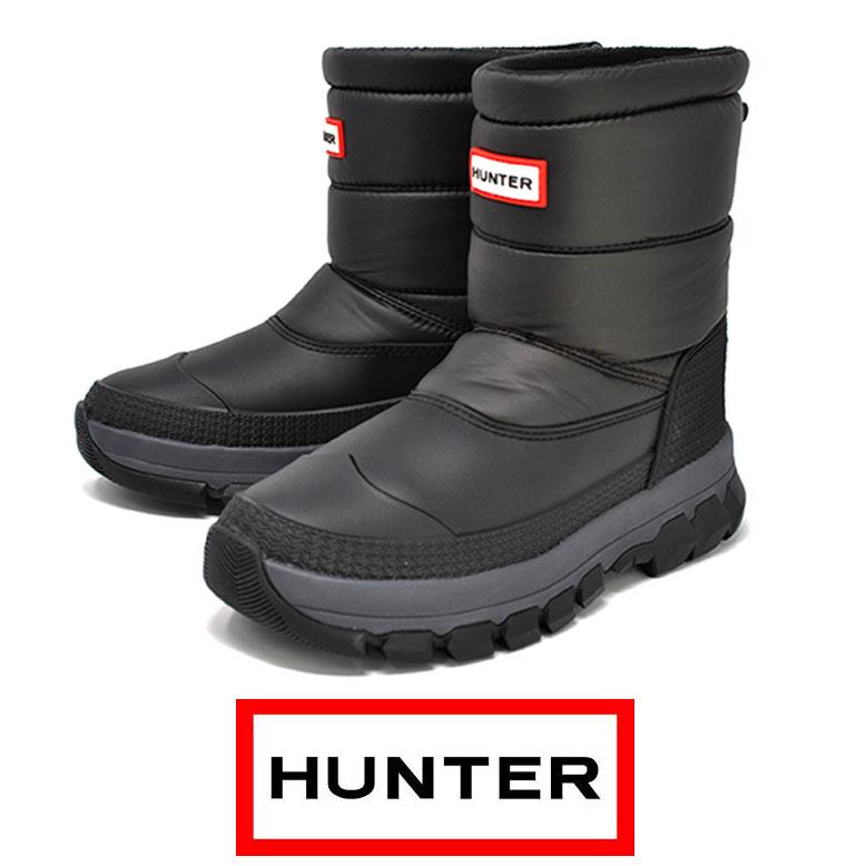 HUNTER ハンター スノーブーツ 防水 MFS 9112 WWU メンズ ショート ORIGINAL INSULATRD SNOW BT SHORT 雪 防寒ブーツ 冬靴 北海道
