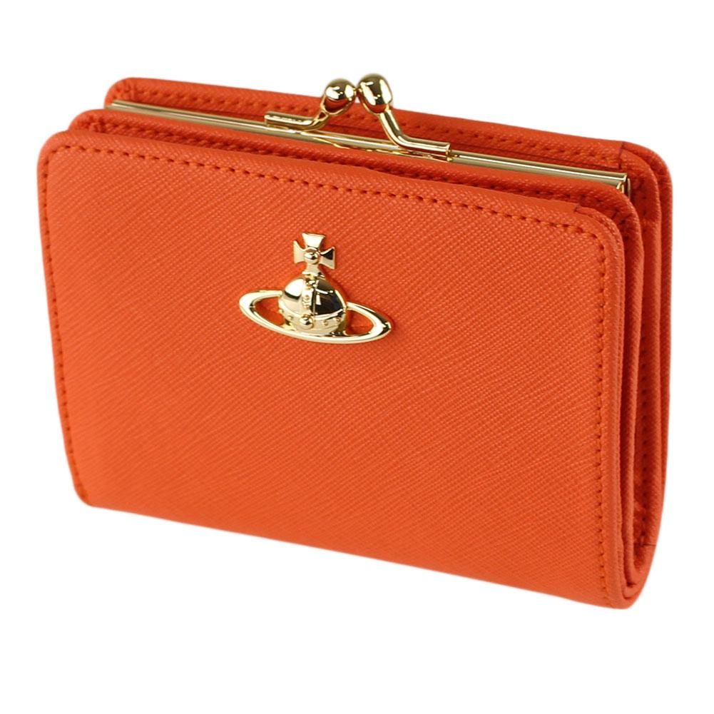 ヴィヴィアン ウエストウッド 折りたたみ財布 VIVIENNE WESTWOOD 51010038-41469 オレンジ