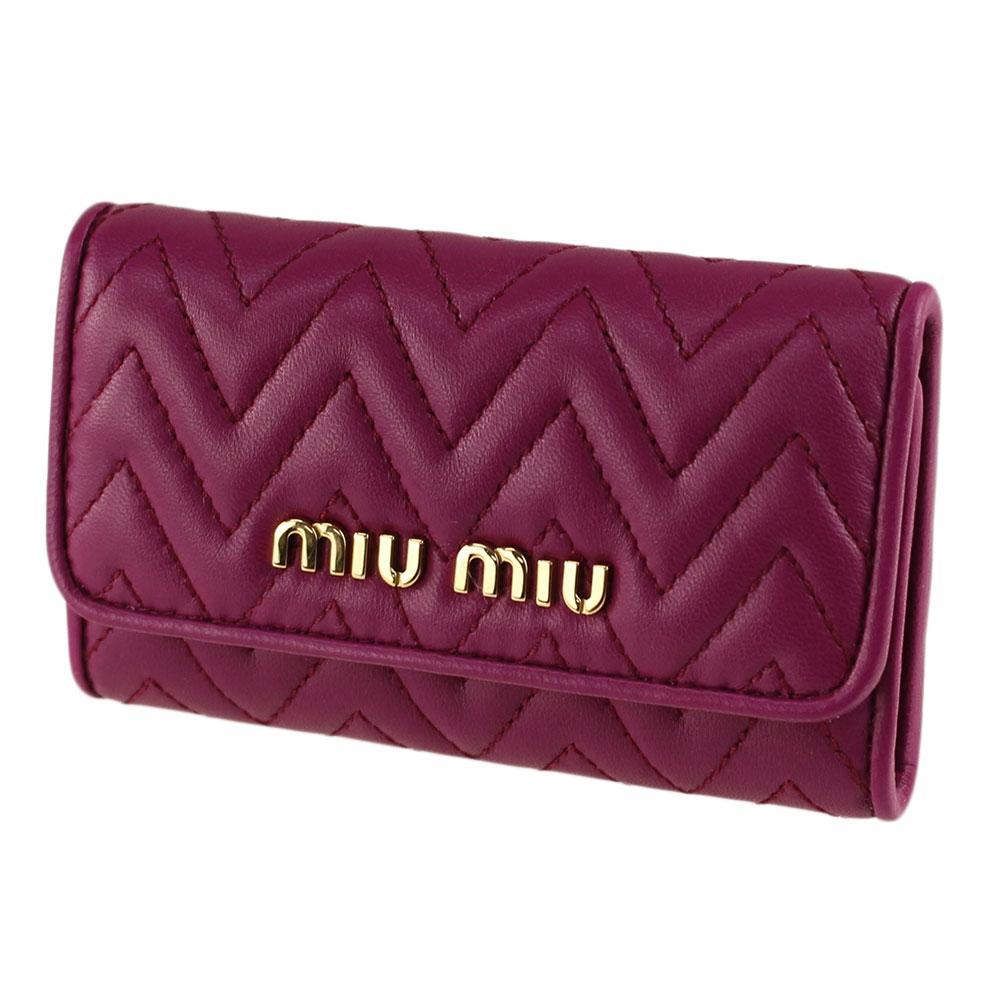 ミュウミュウ キーケース・キーリング MIU MIU 5PG222 2CAL ピンク