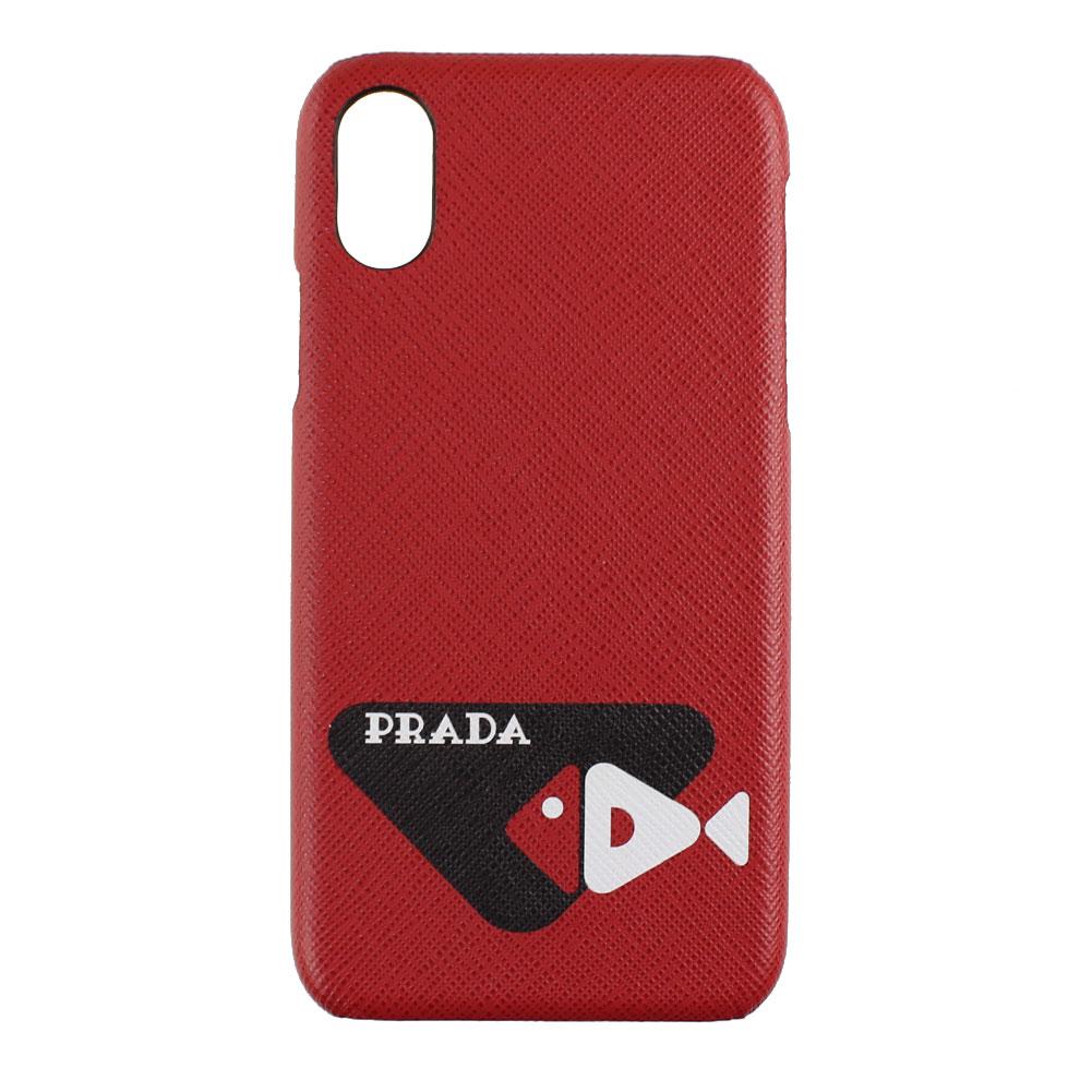 プラダ スマホケース テックアクセサリー 売れ筋ランキング 激安 返品可能 PRADA ユニセックス iPhoneX Xsケース iPhoneケース 2ZH058 iPhoneXS 2BOW メンズ兼用 レッドマルチ系 レディース F0C9F ハードケース