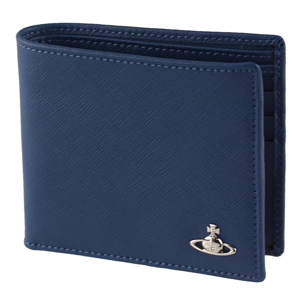 ヴィヴィアン ウエストウッド 折りたたみ財布 メンズ 二つ折り財布 VIVIENNE WESTWOOD 51070035-41245 ブルー系 財布・小物