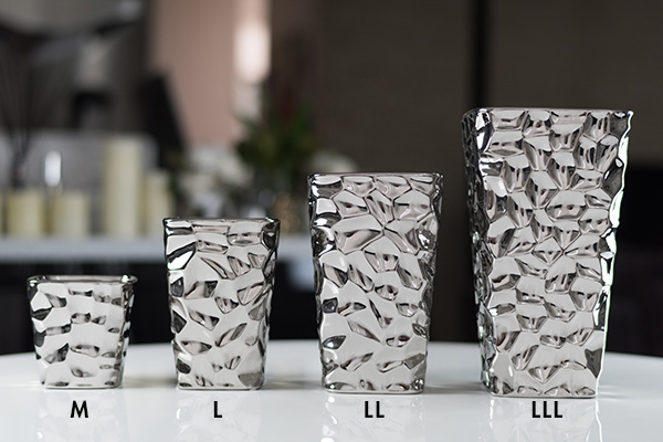 Silver color roundstone a flower vase / vase / vase