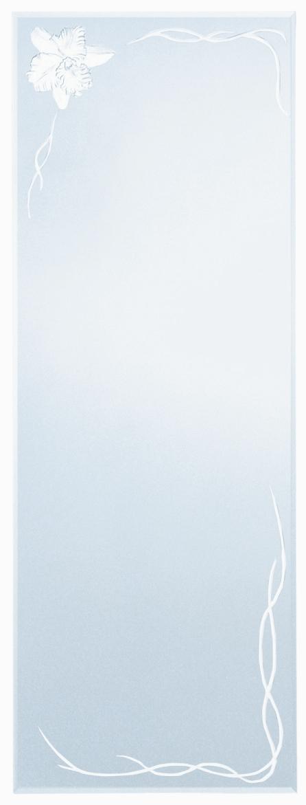 送料無料!壁掛けミラー・エッチングミラー【カトレア柄・姿見サイズ】AD-103
