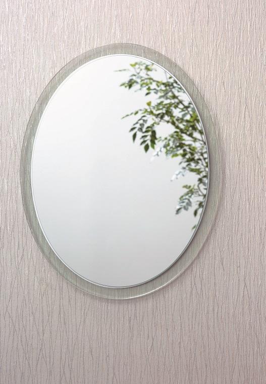 壁掛けミラー【 AI-604 】 シンプル 楕円形【アルテジャパン 送料無料】