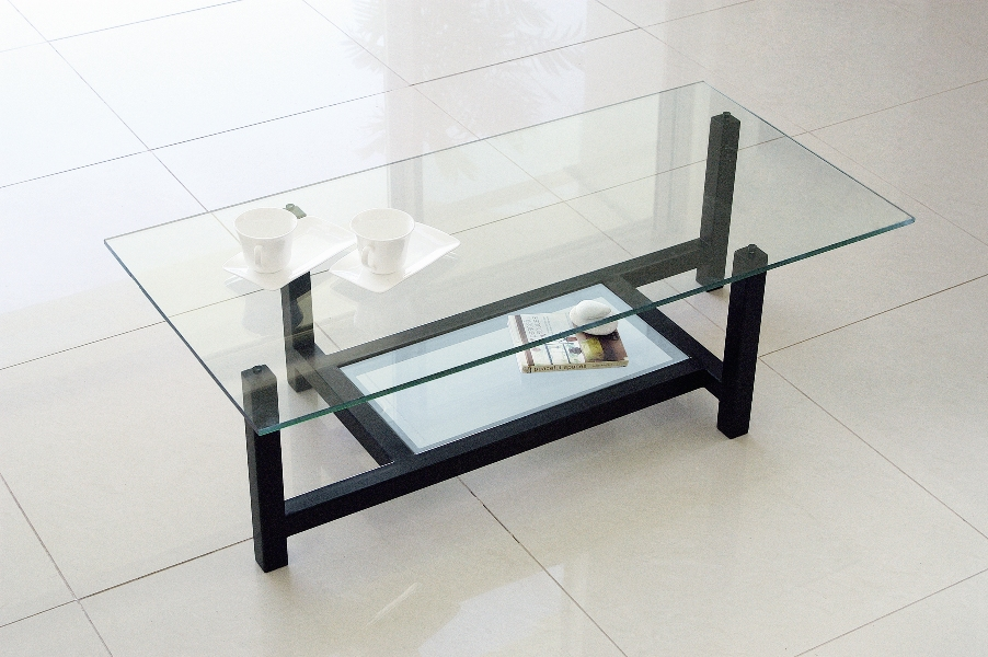 Awesome Center Table, Glass Table, Low Table Black Frame NA 184