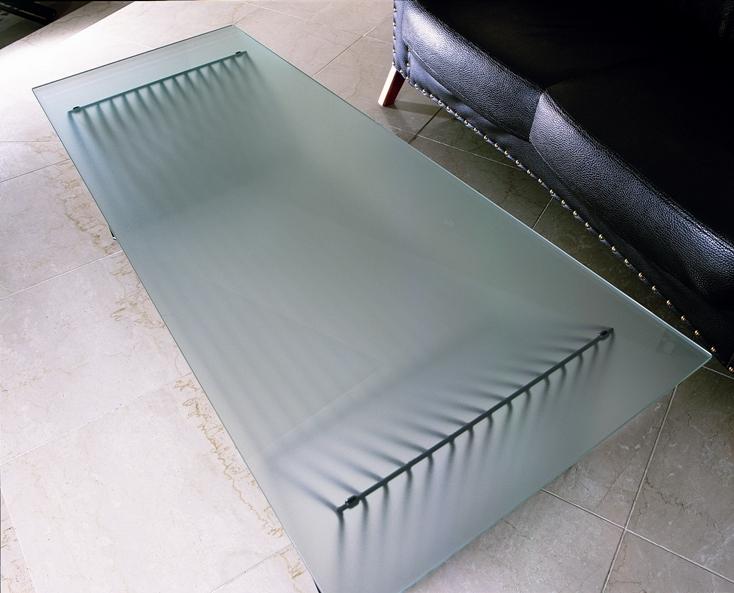 飛散防止フイルム貼りガラステーブル YG-56-H03【interior送料無料】配送時間指定不可